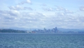Looking across BI's Murden Cove with Seattle skyline in distance.