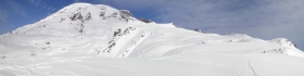 Muir Snowfield - Mount Rainier panorama.