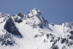 Chair Peak as seen from our high point on Snoqualmie Mountain's West Ridge.