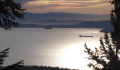 Looking across Puget Sound with Olympic Mountains in distance.