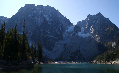 Dragontail Peak as seen from the north end of Colchuk Lake.