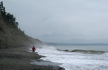 Stormy conditions out near the SW end of Dungeness Spit.