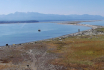 Panorama of Dungeness Bay and Olympic Mountains beyond.