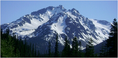 North Face of Face Mountain as seen from the Hurley River Road.