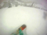 Frame capture of Agata's first tracks down Sunnyside in late February.