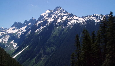 Johannesburg Mountain as seen from the Eldorado Creek Trail.