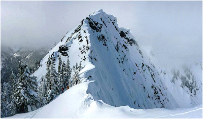 Kendall Peak as seen from the South Ridge.