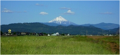 Mount McLoughlin as seen near Medford, OR.