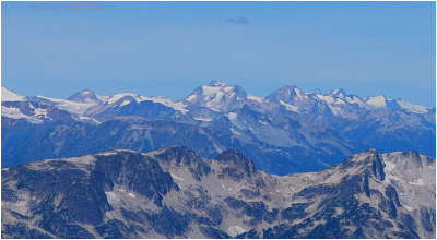 Overseer Mountain as seen from Cirque Peak summit.