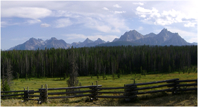 The Sawtooth Range as seen near Stanley, ID.