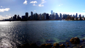 Panorama of downtown Vancouver from the Seawall.
