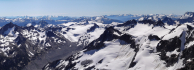 Summit panorama from Sloan to Samson.