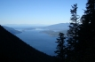 View across Howe Sound from trail.