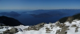 Looking west from summit across Howe Sound.  Gorgeous, eh?